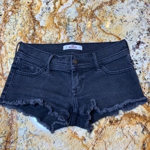 Black Denim Hollister Shorts
